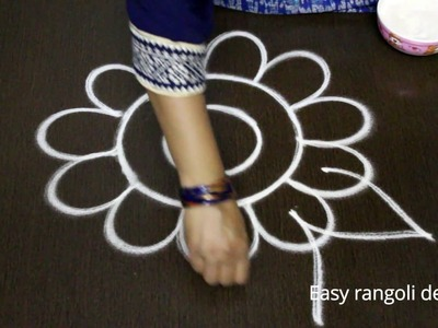 Simple friday kolam designs with out dots for varalakshmi vratham || varalakshmi vratham muggulu