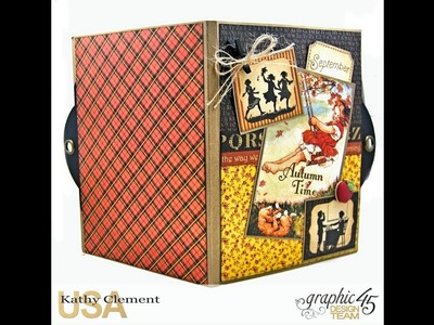 #SimplyG45 Autumn Time Folio Tutorial with Graphic 45 A Place in Time and ABC Primer