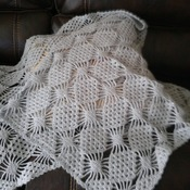 Sparkling light gray Scarf-palantin