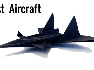 The best Paper Aircraft in the World- Black Fighter | Cool craft ideas with paper | Origami tutorial