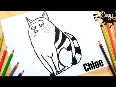 The Secret Life of Pets│Cómo Dibujar al Gato Chlon │How to draw a cat Chlon