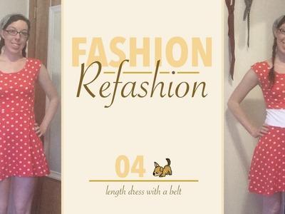 04 - Lengthen Dress with a Belt