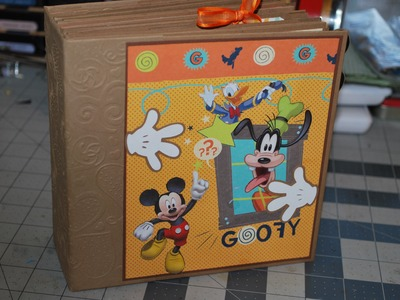 6 x 6 Disney Scrapbook, Bright and Happy Mickey, Minnie and the gang. (Sold)