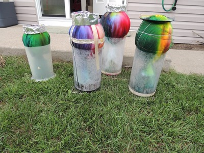 Balloon Tie Dyeing! How to tie dye with a balloon (alternative ice dyeing)