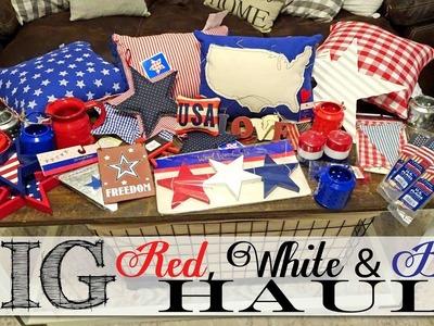 BIG *Red White & Blue* HAUL   Dollar Tree   Target   Michael's