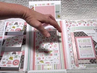 Commissioned Tilda Stamps, Baby Girl Folio for **SOLD**, Bottle Cap Charms