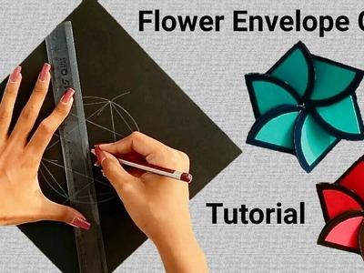 Creative envelope for teacher's day I Flower envelope card tutorial |