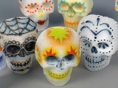 Day of the Dead Sugar Skulls in Pâte de Verre