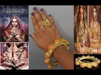 DEEPIKA PADHUKONE'S PADMAVATI LOOK INSPIRED DIY BANGLE-MADE USING ALUMINIUM FOIL