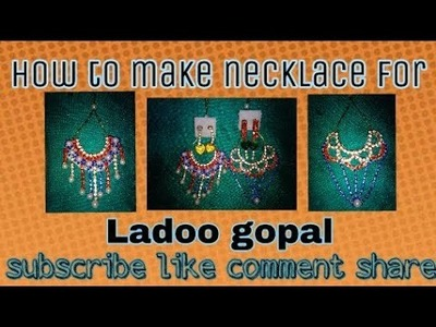 Diamond necklace {How to make heavy jarkan necklace for ladoo gopal}