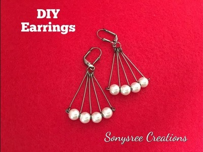 DIY Earrings.  Quick & Easy ????????????????????????????????