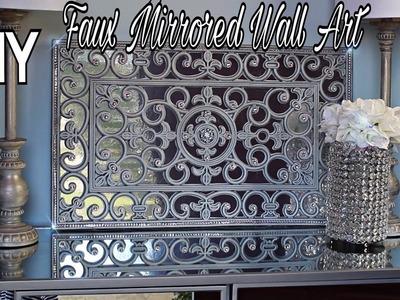 DIY | Easy | Faux Mirror Wall Art