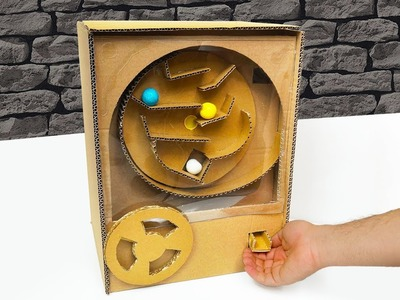 DIY How to Make Bubble Gum Game Driving from Cardboard