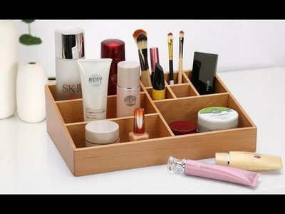 DIY Makeup Storage and Organization Box | DIY DESK ORGANIZER
