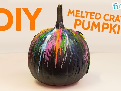 DIY Melted Crayon Halloween Pumpkin   Fin Fun Mermaid Art
