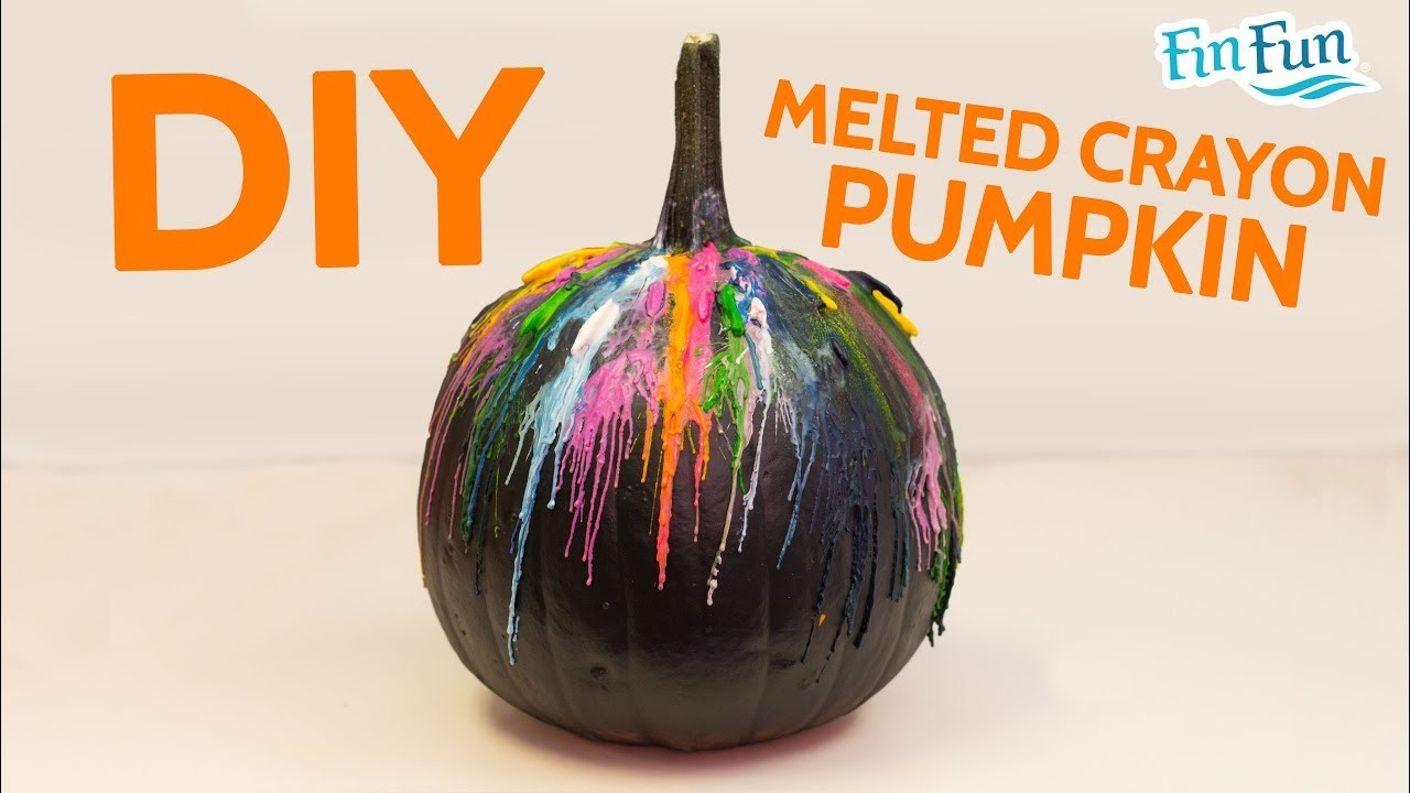 DIY Melted Crayon Halloween Pumpkin | Fin Fun Mermaid Art