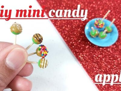 DIY Miniature Candy Caramel Apples - Doll Fall Food