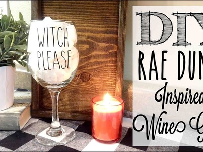 DIY Rae Dunn Inspired Wine Glass | *GIVEAWAY*