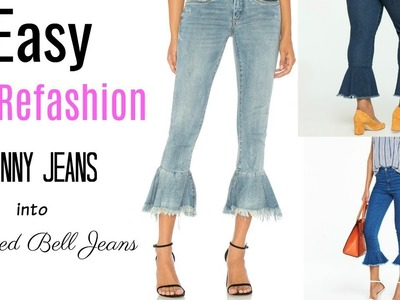 DIY Refashion: From Skinny Jeans to Flared Hem Jeansl Ty Kent