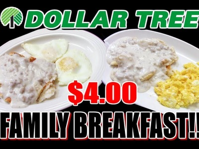 Dollar Tree $4.00 BIG BREAKFAST! - WHAT ARE WE EATING?? - The Wolfe Pit