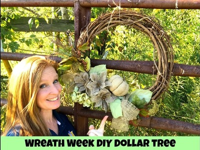 Dollar Tree Wreath DIY. WREATH WEEK!!