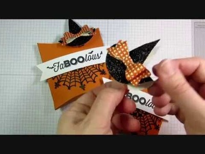 Halloween Pillow Box + Witch Hat Clip Tutorial