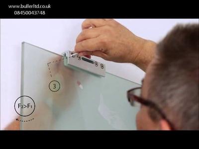 Hercules Glass Top hung sliding door gear for 100kg glass door. DIY installation video
