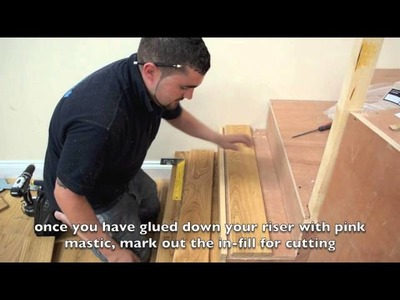How to fit a wood floor on stairs using a nosing