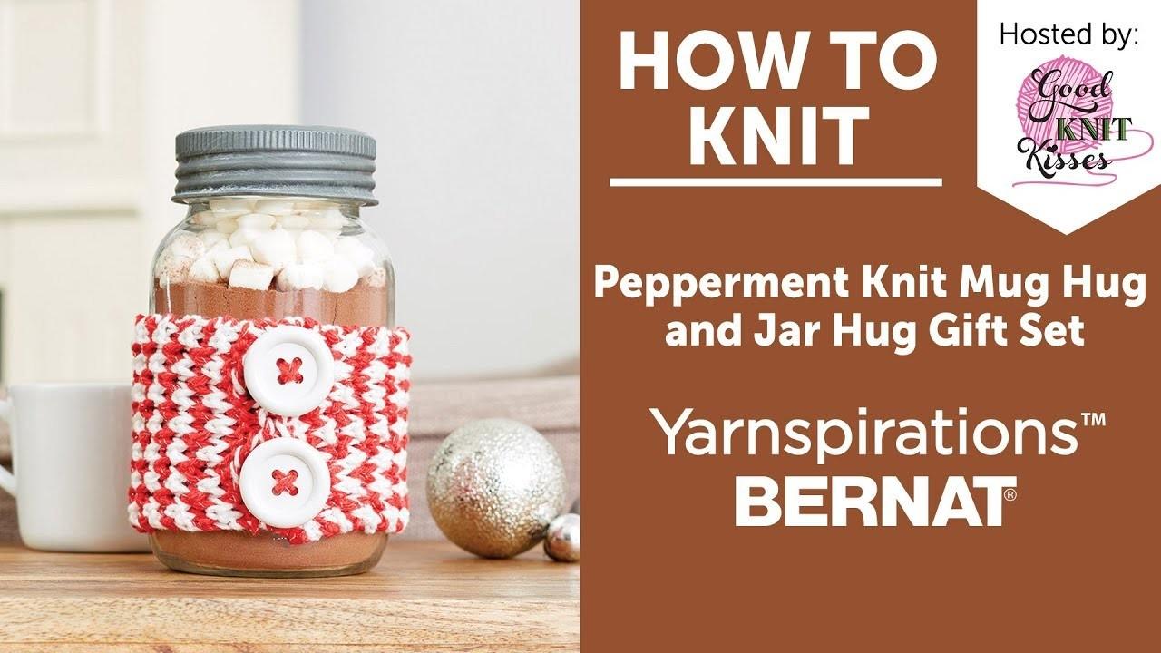 How to Knit: Make a Peppermint Jar Hug