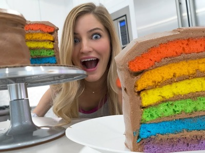 ???? How to make a Rainbow Cake!