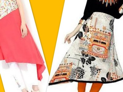 How to make Asymmetrical kurti with lining full drafting cutting & stitching DIY