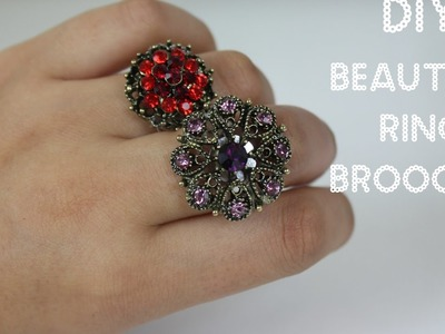 How to make Beautiful Brooch rings