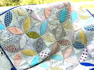 How to make Orange Peel Quilt with AccuQuilt die and cutter