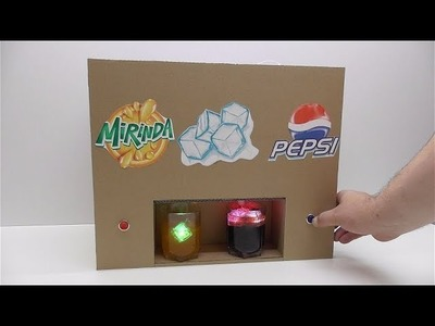 How to Make Pepsi Mirinda Dispenser from cardboard