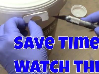How to Open Liquitex 1 Gallon Bucket of Pouring Medium
