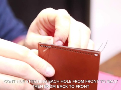 How to Saddle Stitch Your Bifold Wallet - by YNOT