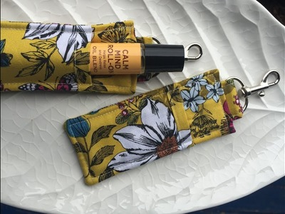 How to sew an essential oil holder roller ball key fob clip case