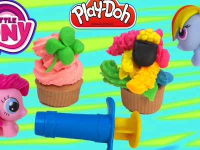 MLP Rainbow Dash Pinkie Pie Playdoh Cupcake Making Frosting My Little Pony for Princess Celestia