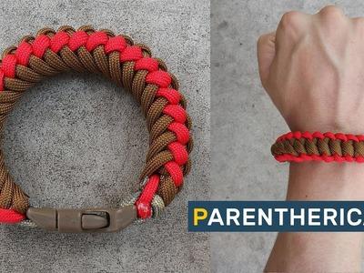Parenthetical-X Modified Paracord Bracelet