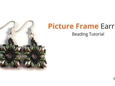 Picture Frame Earrings Beading Tutorial