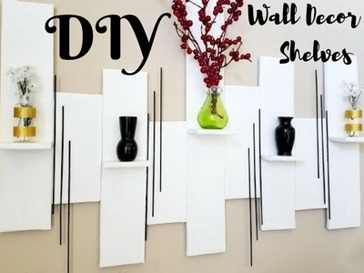 Quick And Easy Diy Wall Art +Mini Shelves Room Decor $0!!!