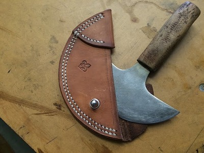 Round Knife Sheath. How to make one