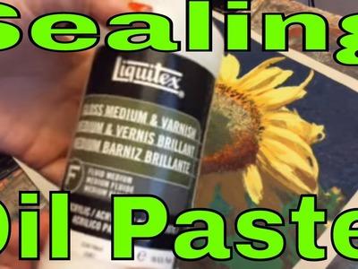 Sealing Oil Pastel with Liquitex Gloss Medium