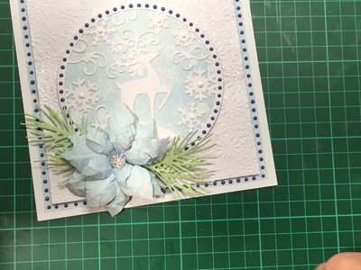 Simple Christmas card with Tattered lace die