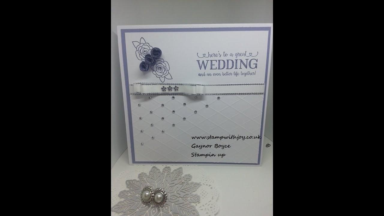 "Simple elegant wedding card using ""better together"" © Stampin up"
