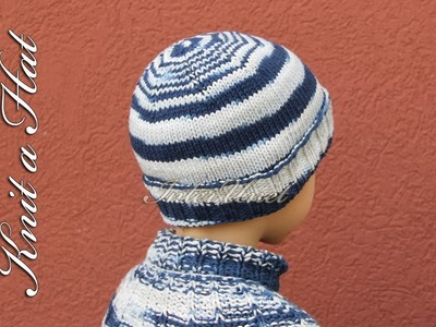 Simple hat to learn how to knit for beginners