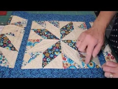 Star Pattern Table Runner Tutorial with Bev Mayo -  video 1