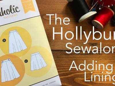 The Hollyburn Sewaong - Adding a Lining
