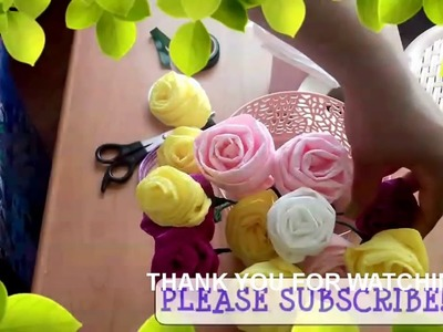Very Easy Lovely Toilet Paper Flower ( Flores de Papel Higiénico) ( ReUpload )