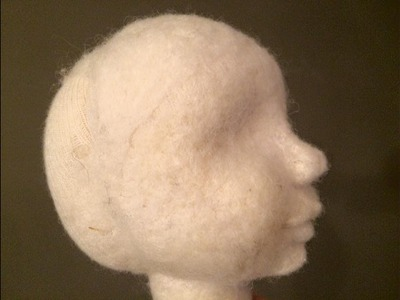 Waldorf doll face felting part 2